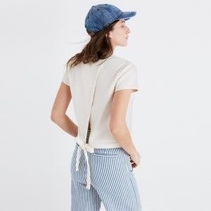 Madewell Verse Tie Back Top Crepe Ivory XS